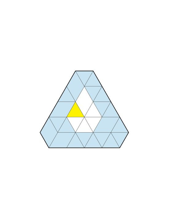 Triangle of Six Refracted Prism Art Print