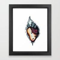 zip up your heart! Framed Art Print
