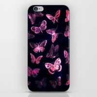 Night butterflies iPhone & iPod Skin