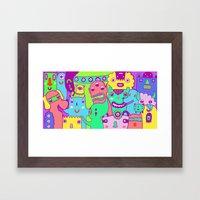 Monster Picture Framed Art Print