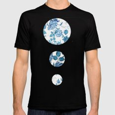 Floral Mens Fitted Tee Black SMALL
