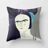 swimmer #2 Throw Pillow