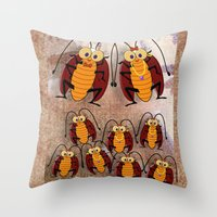 Cockroaches Throw Pillow