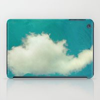 Genie in a Bottle.  Cloud Photography.  Turquoise iPad Case