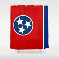 State flag of Tennessee, HQ image Shower Curtain