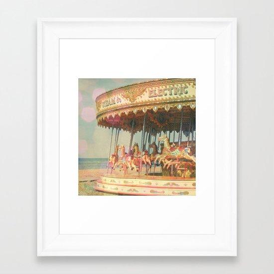 Circling Horses Framed Art Print