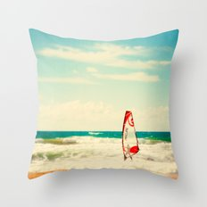 Time to surf 2 Throw Pillow