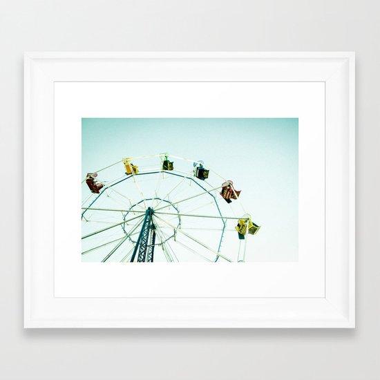 Green Bay Ferris Wheel Framed Art Print