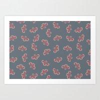 Floral Swarming  Art Print