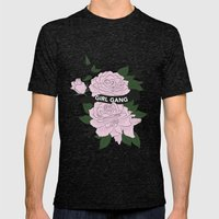 Girl Gang Illustration Mens Fitted Tee Tri-Black SMALL