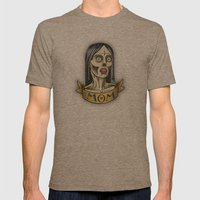 'Mom' Zombie Tattoo print Mens Fitted Tee Tri-Coffee SMALL