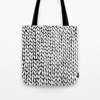 Hand Knitted Loops Tote Bag