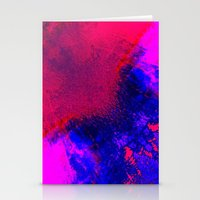 02-14-36 (Red Blue Glitc… Stationery Cards