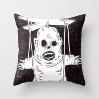 At the testing facility. Part 10 Throw Pillow
