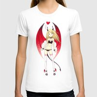 Succubus Womens Fitted Tee White SMALL
