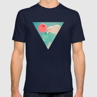 Flying High Mens Fitted Tee Navy SMALL