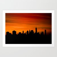 The Evolving Downtown Manhattan Skyline Art Print
