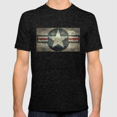 US Air Force Roundel Ins… Mens Fitted Tee Tri-Black SMALL