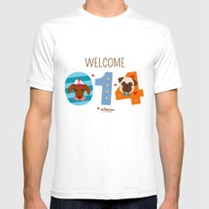Welcome 014 Mens Fitted Tee White SMALL