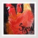 Hens Art Print