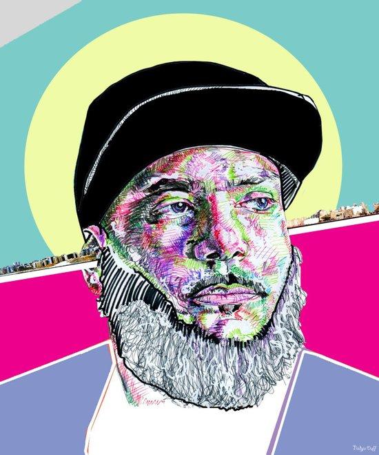 P Thugg of Chromeo Art Print