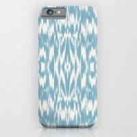 Ikat: Light Blue Ivory iPhone 6 Slim Case