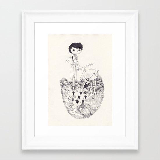 johan et pirlouit Framed Art Print