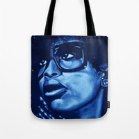 badu?!-blue Tote Bag