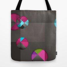 optical illusion black Tote Bag