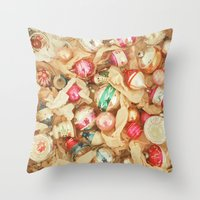 Box of Baubles Throw Pillow