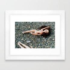 Down in the Gravel Framed Art Print