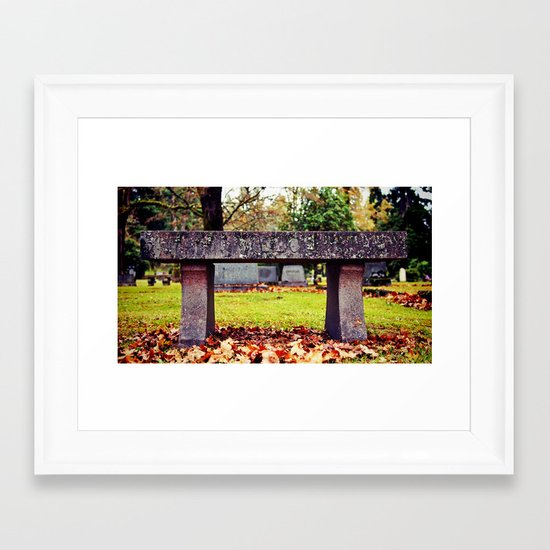 Final resting place Framed Art Print