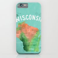 iPhone & iPod Case featuring Wisconsin Map by Stephanie Marie Steinhauer