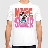 Mouse Swagger Mens Fitted Tee White SMALL