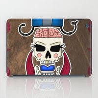 Skater Skull by RonkyTonk Roller Derby iPad Case