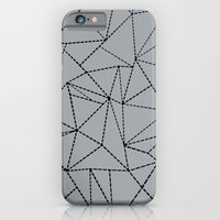 Ab Dotted Lines B on Grey iPhone 6 Slim Case