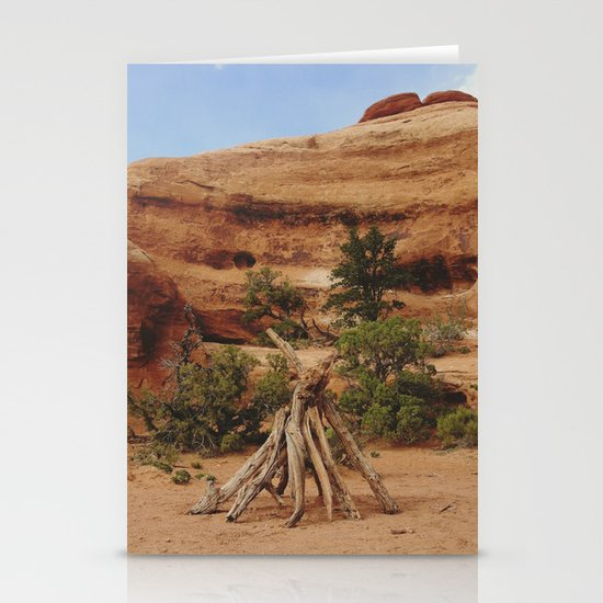 Small Teepee Stationery Card