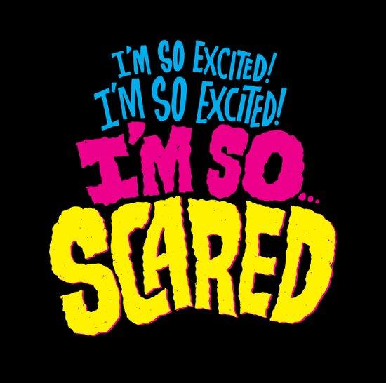 I'm so excited! I'm so excited! I'm so... scared! Art Print