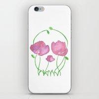 Tulip Skull iPhone & iPod Skin