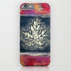 Leaf Imprint - Textured Painting iPhone 6s Slim Case