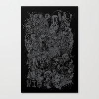 Lost Sketches Canvas Print