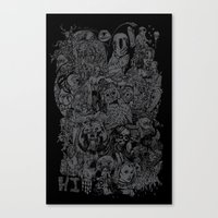 Lost Sketches Canvas Print