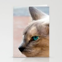 A Siamese Cat study Stationery Cards