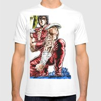 KenshiroRmX Mens Fitted Tee White SMALL