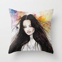 Ariane Watercolour  Throw Pillow