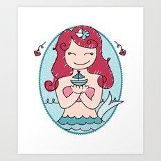 Cute Mermaid Art Print
