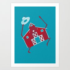 Barn dance Art Print