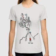 Little Monsters From My … Womens Fitted Tee Silver SMALL