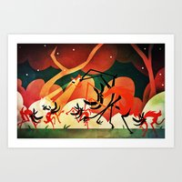 The Friend Of The Time Wolves Art Print