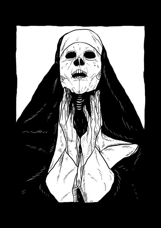 nun of death Art Print